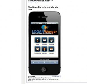 mobile web site ex4